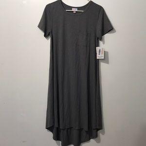 LuLaRoe women asymmetrical dress size S Color Gray